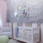 15-camera bebelus fetita in alb gri bleu roz si verde pal