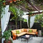 15-canapea coltar loc de relaxare sub pergola sau pe terasa casei