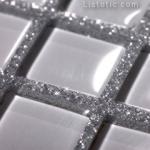 15-chit gri cu sclipici argintiu in finisarea mozaicului alb