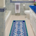15-covoras colorat din mozaic decor pardoseala baie