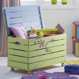15-cufar din lemn pentru depozitarea si pastrarea jucariilor pentru copii