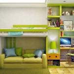 15-decor verde albastru portocaliu si galben camera baiat