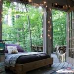 15-dormitor sub cerul liber amenajat intr-un foisor din curtea casei