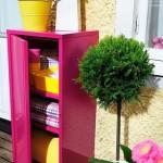 15-dulap metalic vopsit in roz fuchsia organizare balcon mic