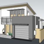 15-fatada schita 3d casa moderna cu etaj 74 mp