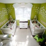 15-idei amenajare camera fetite gemene in vernil si alb