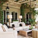15-living de vara amenajat sub pergola din lemn