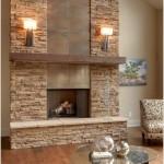 15-living modern cu perete de accent cu semineu si piatra naturala