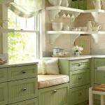 15-mobila verde pal din lemn masiv decor bucatarie amenajata in stil rustic