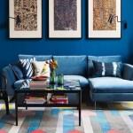 15-model amenajare living colorat in albastru