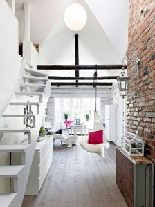 15-perete din caramida lacuita decor living rustic