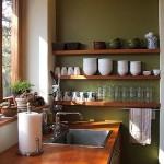 15-perete verde masliniu decor bucatarie moderna minimalista
