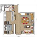 15-schita apartament doua camere