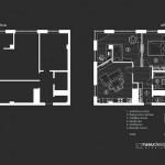 15-schita plan apartament inainte si dupa reconfigurare si amenajare