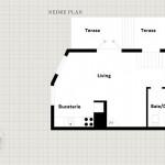 15-schita plan parter apartament 3 camere din vila duplex