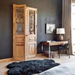 15-usa veche decor perete dormitor matrimonial rustic casa provence franta