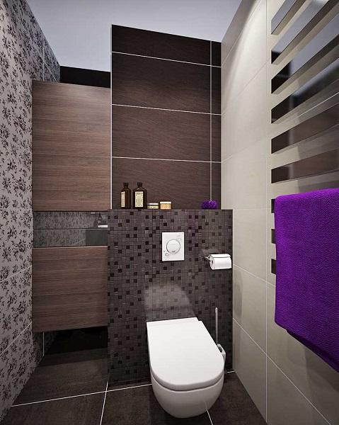 15-wc suspendat baie moderna finisata in gri wenge si negru