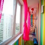 16-balcon lung si ingust finisat si decora in culori vii si vesele