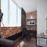 16-birou amenajat in balconul apartamentului unit cu livingul