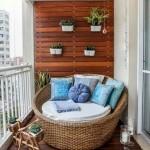 16-canapea forma circulara din rattan decor balcon mic
