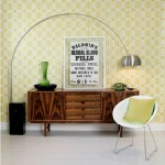 16-comoda retro din lemn integrata in decor living modern