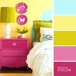 16-decor in nuante aprinse de galben roz si bleu