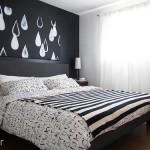 16-dormitor modern scandinav decorat in alb si negru