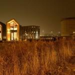 16-doua case model Heijmans One 45 mp cu tot cu etaj Amsterdam Olanda vedere pe timp de noapte