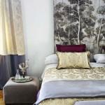 16-draperii dormitor confectionate din aceeasi stofa cu cuvertura de pe pat