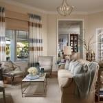 16-draperii simple in dungi orizontale culori pastel decor living clasic