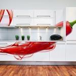 16-foto tapet decorativ aplicat pe mobila alba bucatarie moderna