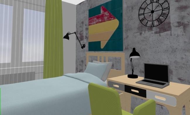 16-idee amenajare camera copil adolescent cu pat si birou