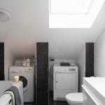 16-integrare masini de spalat si de uscat rufe in baie mansardata apartament