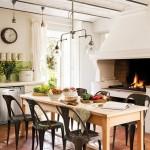 16-loc de luat masa bucatarie rustica cu cuptor traditional casa din Provence