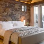 16-model dormitor rustic placat cu piatra naturala