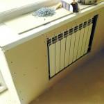 16-montarea gips cartonului pentru mascarea caloriferului din bucatarie
