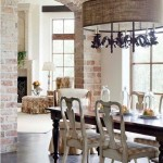 16-perete placat cu caramida decor bucatarie stil provence