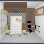 16-propunere amenajare dormitor 1 cu aparat fitness