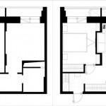 16-schita compartimentare apartament mic inainte si dupa amenajare
