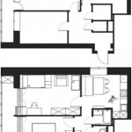 16-schita compartimentare interioara apartament 2 camere 49 mp inainte si dupa