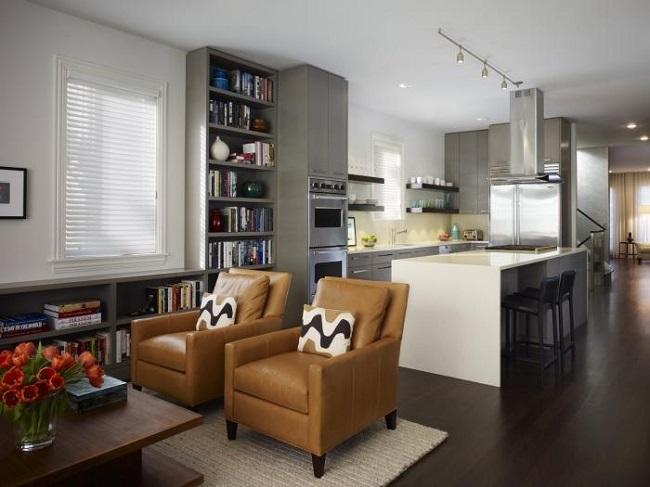 16-sugestii amenajare living si bucatarie open space