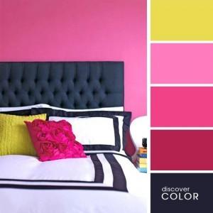 17-asortare roz ciclam decor dormitor