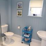 17-baie placata cu lambriu din lemn casa mica 40 mp