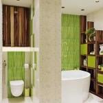 17-decor baie moderna in verde maro alb si gri