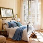 17-dusumea din lemn masiv dormitor matrimonial pat fier forjat