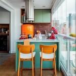 17-idee amenajare bucatarie stil retro in balconul apartamentului
