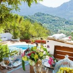 17-vedere de pe terasa casei din Gaucin spre muntii Serrania de Ronda din Malaga Spania