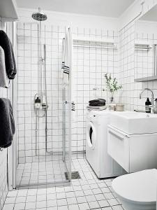 18-baie mica alba cu cabina de dus apartament 3 camere stil scandinav