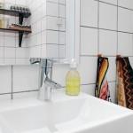 18-lavoar baie stil scandinav placata cu faianta alba
