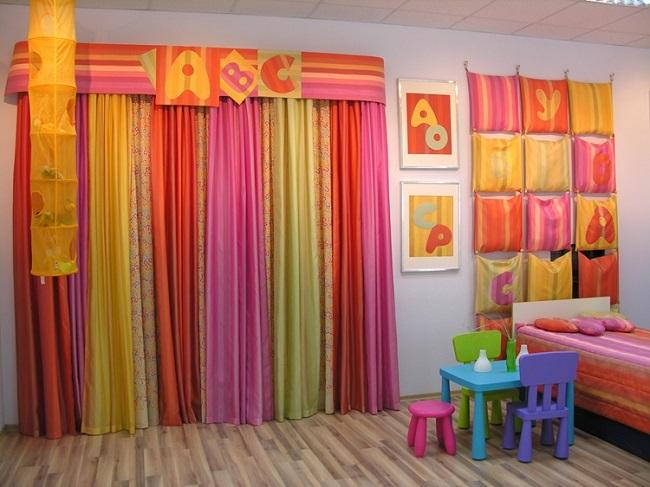 18-perdele colorate camera copil